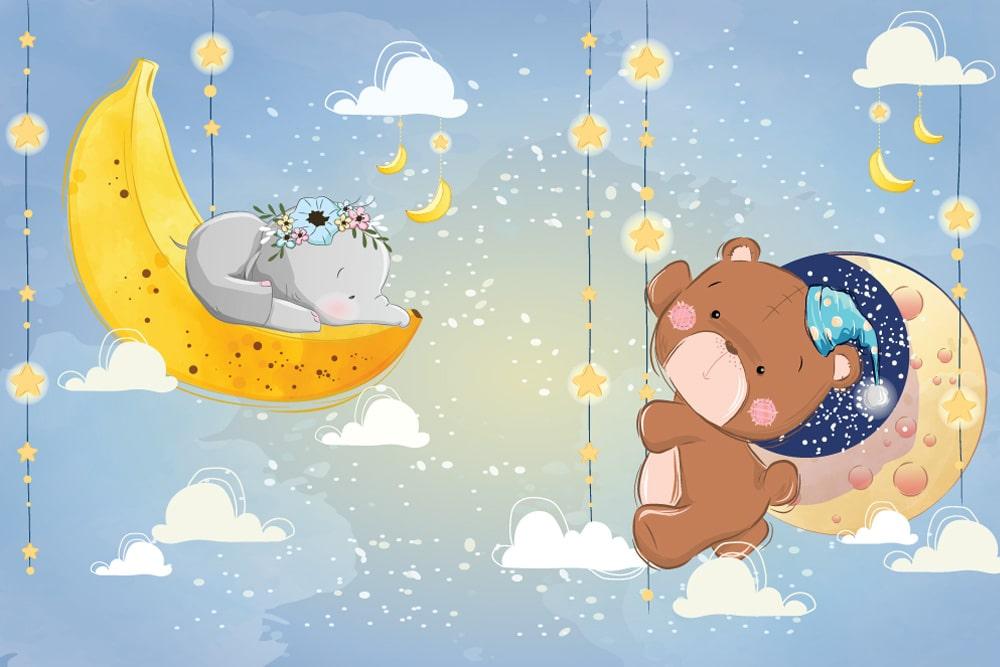 Днем, картинки спокойной ночи с надписями и с мишками
