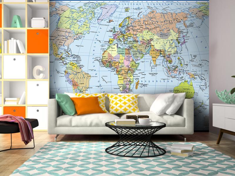 фотопанно карта мира одно новогоднее меню